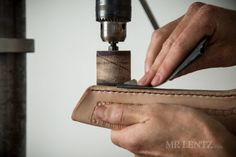 How to Make a Leather Holster - Mr. Diy Leather Working, Sewing Leather, Diy Leather Holster, Leather Front Pocket Wallet, Leather Projects, Leather Crafts, Pistol Holster, Leather Tooling, Projects To Try