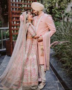 Bollywood Wedding, Sikh Wedding, Indian Wedding Outfits, Indian Outfits, Punjabi Wedding, Bridal Outfits, Indian Weddings, Couple Wedding Dress, Wedding Couples