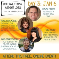 Day 3 Banner 300 x 300 Need To Lose Weight, Speakers, Fun Facts, Paleo, Stress, Banner, Join, Weight Loss, Health