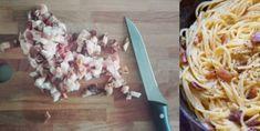 Špagety Carbonara pravý Italský recept – snadnepecivo Coconut Flakes, Food Art, Spaghetti, Spices, Food And Drink, Cooking Recipes, Pasta, Meals, Chicken