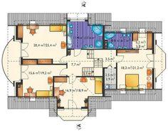 Projekt domu Heliodor (Archeton Sp. z o.o.) Floor Plans, Studio, Attic Rooms, Studios, Floor Plan Drawing, House Floor Plans