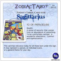 Zodiac Tarot for December 22: Sagittarius <br>  http://ifate.com