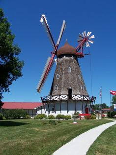 Elk Horn, IA- Danish Windmill  My great..... grand father helped start this little town. When My grandmother died I was able to visit and see the old farm my father grew up on. A neat place!