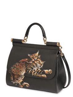 dolce & gabbana - women - top handles - medium sicily cats printed dauphine bag