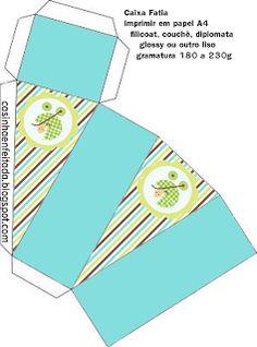 Kit Chá de Bebê Menino nas Cores Marrom Azul e Verde (Grátis)