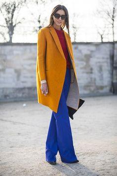 Colour blocking - Paris A/W 2013 street style