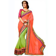 Fabulous Georgette Embroidered Work Festive Wear & Party Wear Saree at just Rs.1160/- on www.vendorvilla.com. Cash on Delivery, Easy Returns, Lowest Price.
