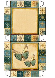 I would like to try this using patchwork and appliqe Paper Box Template, Origami Templates, Box Templates, Diy And Crafts, Paper Crafts, Paper Art, Foam Crafts, Printable Box, Box Patterns