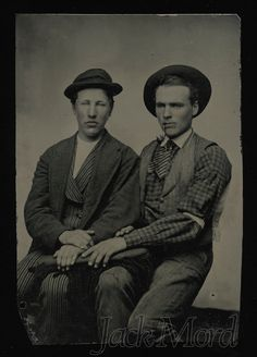 Vintage Male Bonding Photo / 2 Friends Share a Chair by diabolus