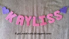 EyeLoveKnots: DIY Plastic Canvas Name Banners - GREAT Baby Shower Gift or Kids Room Decoration!