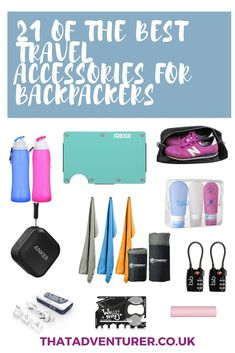 21 essential travel accessories for backpackers. Let's talk travel accessories. You can get super fancy with your travel accessories (hello wine diaper), or if like me you're a bit of a budget traveller, you can stick to the essentials Backpacking Europe, Travel Packing, Travel Backpack, Budget Travel, Packing Lists, Packing Hacks, Hello Wine, Videos Mexico, Best Travel Accessories