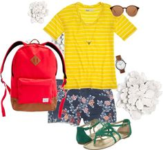 Pattern mixing, created by sreagle on Polyvore