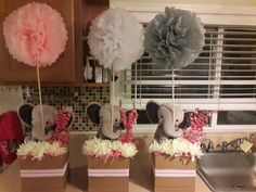 19 trendy ideas for baby shower elephant theme centerpieces peanuts Baby Girl Shower Themes, Girl Baby Shower Decorations, Baby Shower Centerpieces, Elephant Decorations, Elephant Centerpieces, Baby Shower Drinks, Baby Shower Table, Baby Shower Fun, Elephant Theme