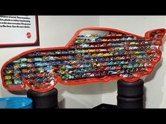 OVER 100 Cars Diecast Collection Lightning McQueen Display DisneyPixarCars Lightening Mcqueen Bedroom, Lightning Mcqueen Bed, Disney Cars Room, Disney Pixar, Car Themed Bedrooms, Car Bedroom, Bedroom Kids, Car Furniture, Woodworking Furniture