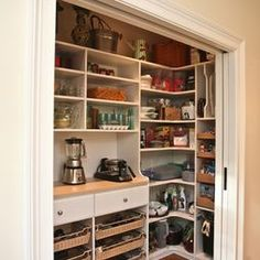 Custom appliance  pantry - contemporary - kitchen - boston - Marie Newton, Closets Redefined