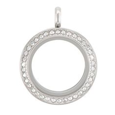 Origami Owl - Make a dazzling first impression with our Seasonal Exclusive Medium Silver Metallic Twist Living Locket Base + Face with Crystal Comet Swarovski Crystals that offer a sophisticated sparkle. www.charmingsusie.origamiowl.com