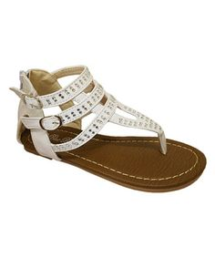 Take a look at this White Double Buckle Lily Sandal on zulily today!