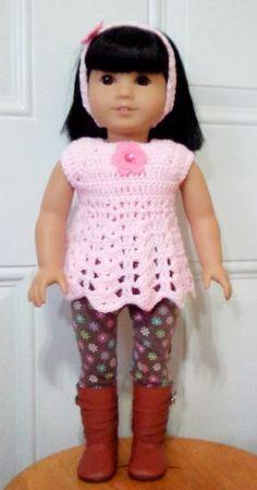 Let's create: Crochet Top For American Girl