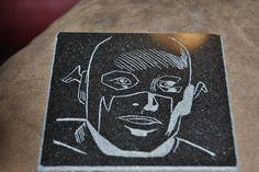 Classic Flash on black granite.