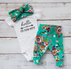 A personal favorite from my Etsy shop https://www.etsy.com/ca/listing/518703077/newborn-baby-coming-home-outfit-baby
