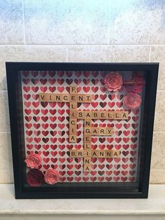 Excited to share the latest addition to my #etsy shop: shadow box art, Scrabble tiles, custom shadow box, mom from daughter, word art, gifts for grandma, family decor, wedding gift, wedding shado http://etsy.me/2DHhXA8 #housewares #homedecor #wedding #nursery #origami