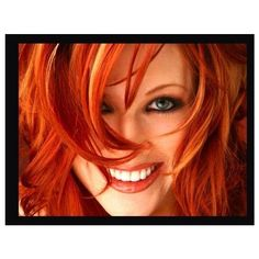Auburn Hair Color ❤ liked on Polyvore
