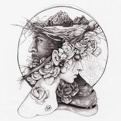Artist Christina Mrozik closely observes flora and fauna to create hybrid drawings and paintings that unite the two in haunting new forms. Eyes Artwork, Tattoo Artwork, Tattoo Drawings, Illustration Tumblr, Pen Art, Art Drawings Sketches, Dark Art, Oeuvre D'art, Art Inspo