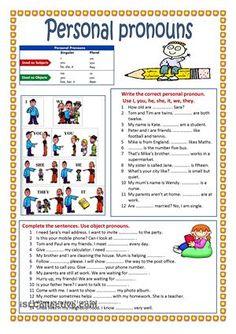 Pronoun Worksheets for Kindergarten Free Personal Pronouns Worksheet Free Esl Printable Worksheets Pronoun Activities, Pronoun Worksheets, English Grammar Worksheets, Comprehension Worksheets, Grammar Lessons, Kindergarten Worksheets, Printable Worksheets, English Vocabulary, Teaching Pronouns