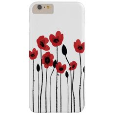 Red Poppies iPhone 6 Plus Case