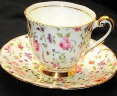 Windsor Briar Rose Chintz CUTE DEMI  Tea cup and saucer