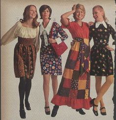 1971 : florals, maxi & midi skirts, patchwork ... Sears Catalog