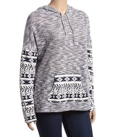 Look at this #zulilyfind! Navy Geo Hoodie - Plus #zulilyfinds