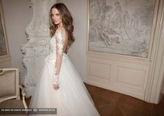 berta bridal spring 2016 long sleeve tulle wedding dress