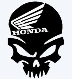 Perfect for any car, truck, boat, airplane, skateboard, glass, mug, laptop, or pretty much anything else you can stick it to. It's made of high quality Oracal 651 vinyl, it's Waterproof and UV resistant 6 years outdoor, all-weather resistant.  Please visit my page for many other decals. Honda Shadow, Skull Logo, Vinyl Decals, Wings, Marvel, Airplane, Fictional Characters, Skateboard, Truck