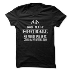 Rugby - So Football Players Have Heroes T Shirt, Hoodie, Sweatshirt - Career T Shirts Store Cheer Shirts, Plaid Shirts, Tie Dye Shirts, Sports Shirts, Casual Shirts, Rodeo Shirts, Arrow Shirts, Linen Shirts, Striped Shirts