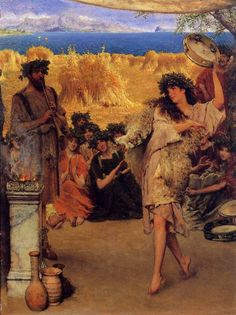 Alma Tadema A Harvest Festival (A Dancing Bacchante at Harvest Time). Alma-Tadema, Lawrence • download painting • Gallerix.ru