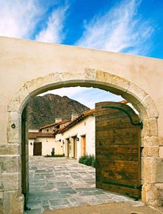 This delightful Mediterranean-inspired home was designed by OZ Architects, located on a private property in Paradise Valley, Arizona. Tuscan Style, Mediterranean Style, Spanish Colonial, Spanish Style, Paradise Valley Arizona, Courtyard Entry, Custom Builders, Hacienda Style, Hacienda Homes