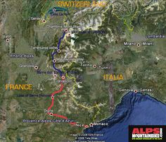 TransAlps France Chamonix Briancon Nice Mediterranean Sea Trans Alps Tour of Mont Blanc French Alps France Switzerland Italy