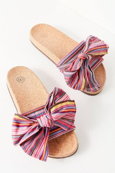 b881cb411986d Shop UO Striped Bow Pool Slide at Urban Outfitters today. We carry all the  latest