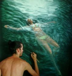 Pinturas hiper-realistas do artista venezuelano Gustavo Silva Nuñez;