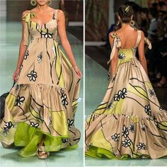 Sling Backless Sleeveless Apricot Floral Print Green Maxi Dresses for Women African Fashion Dresses, Fashion Outfits, Evening Dresses, Summer Dresses, Maxi Dresses, Dress Making Patterns, Floral Print Maxi Dress, Types Of Fashion Styles, Dress Brands