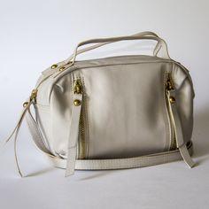 Gym Bag, Beige, Shoulder Bag, Mini, Leather, Handmade, Taupe, Hand Made, Duffle Bags