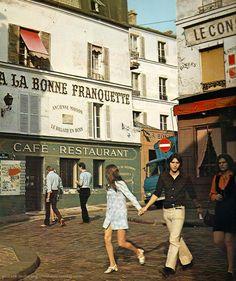 Montmartre (A la bonne franquette) Paris, circa 1970, Patrice Molinard - vintageparis21