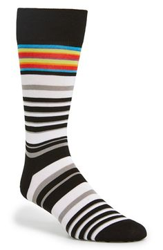 Bugatchi+Stripe+Cotton+Blend+Socks+available+at+#Nordstrom