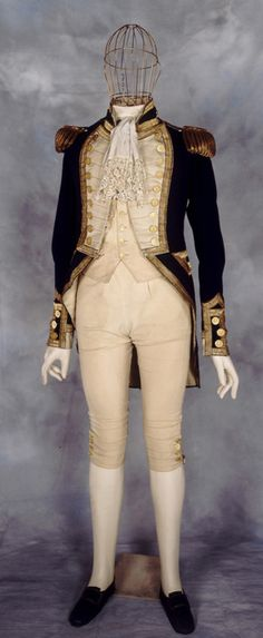 Royal Naval uniform (I particularly like the wire light bulb for a head...)