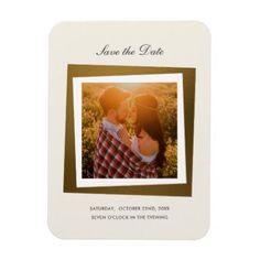 #elegant - #Modern Gold Save The Date   Elegant Photo Magnet