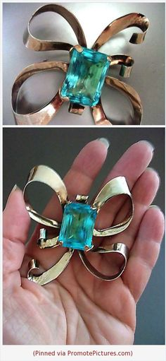 Delicious Beautiful Gold Plated Triple Bow Brooch Jewelry & Watches Pins & Brooches