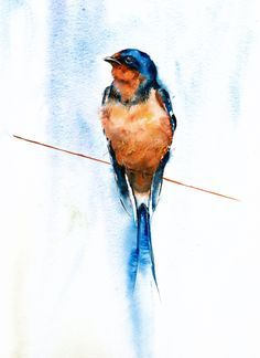 """""""September swallow"""" painted by watercolour artist jane davies available as an limited edition print"""