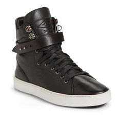 rag & bone 'Kent' Super High Top Sneaker (1.685 RON) ❤ liked on Polyvore