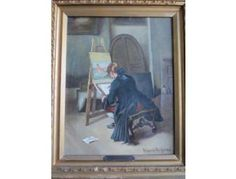 Art — Antique Oil Painting by Ridgeway Richards